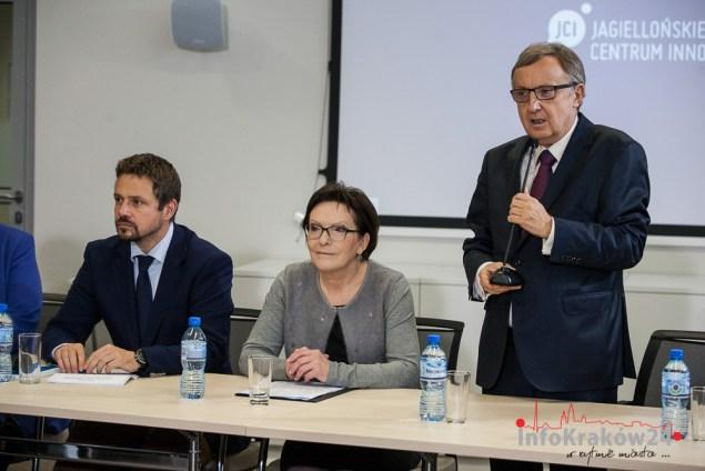 Premier Ewa Kopacz z wizytą w Jagielońskim Centrum Innowacji. Fot. Jan Graczyński/INFO Kraków24