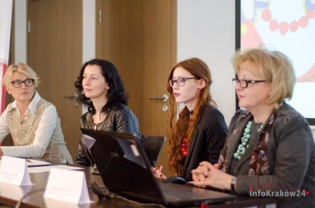 Konferencja Prasowa przed III Kongresem Kobiet w Krakowie. Fot. Bogusław Świerzowski / INFO Kraków24