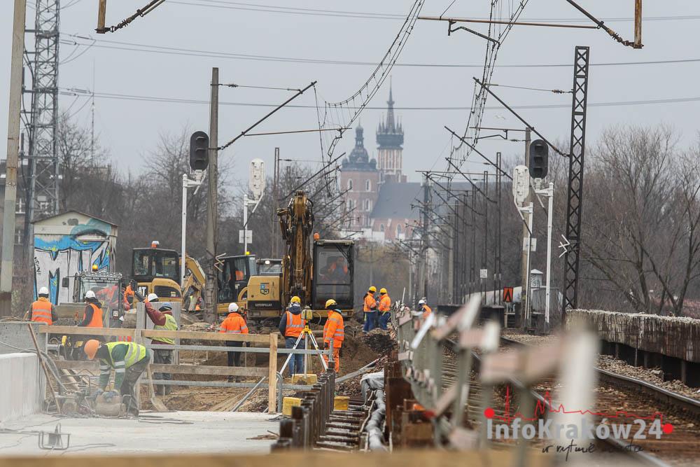 Nowe wiadukty i perony na trasie Kraków – Krzeszowice