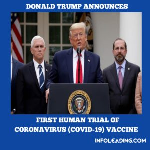 USA President Donald Trump Speaks On First Human Trial Of ...