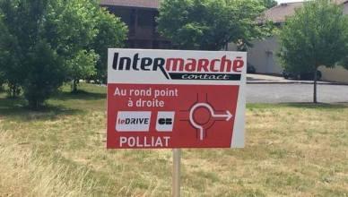 Panneau Intermarché Insolite en France