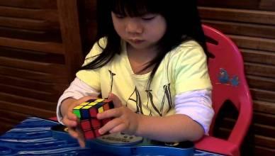record rubik's cube 70 sec à 2 ans