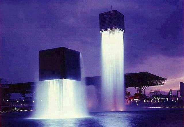 7.Floating Fountains, Osaka, Japan.
