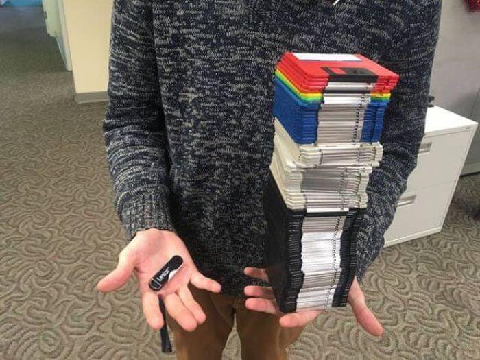 Clé USB vs Disquettes