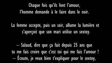 47 - BLAGUE DE LA SEMAINE - Le vieux couple