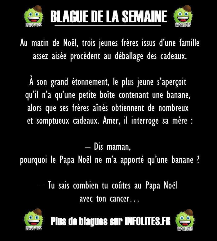 50 - BLAGUE DE LA SEMAINE - Un matin de noël