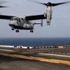 MV-22 lands on USS Nimitz