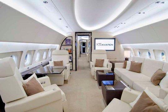 K5 Aviation Airbus ACJ319 main cabin_