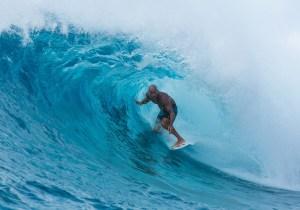 World champion Kelly Slater surfs Ailinglaplap. Photo: Todd Glaser