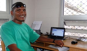 THe NTA operator in Ailuk Atoll, Richard Alfred. Photo: Karen Earnshaw