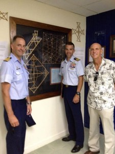 Officers from the visiting Coast Guard vessel Rush and US Ambassador Tom Armbruster at the Alele Museum. Photo: Alele Museum