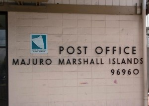 Majuro's main post office in Uliga opposite RRE Hotel.