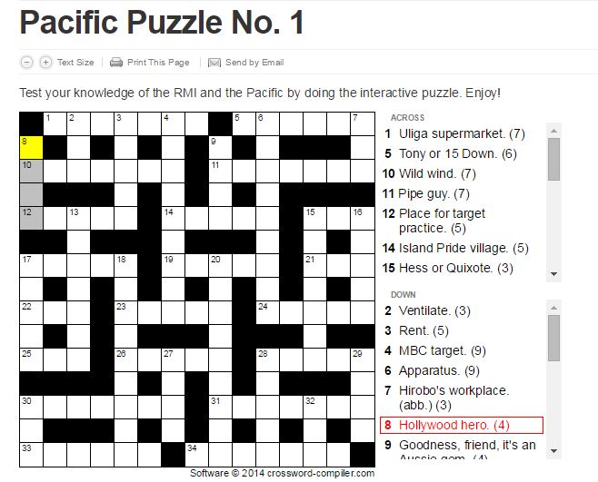 Pacific Puzzle No. 1 • Marshall Islands Guide