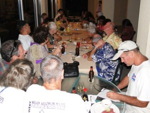 The monthly pub quiz run by the Mieco Beach Yacht club at the Marshall Islands Resort. Photo: Karen Earnshaw