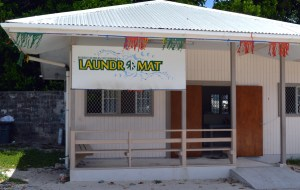 For cruisers, the RRE laundromat on the main road in Uliga, is convenient but costs slightly more than other laundries. Photo: Karen Earnshaw