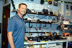 David Utter, owner of Island Radio, the best supplier of all things to do with radios on Majuro. Photo: Karen Earnshaw