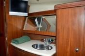 The forward cabin's vanity unit.