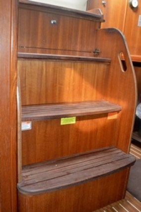 The removable companionway steps.
