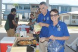 Representatives of SDA host a tasty cooking demonstration at the Farmers' Market. Photo: Karen Earnshaw