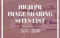 High PR Image Sharing Sites List 2017-2018