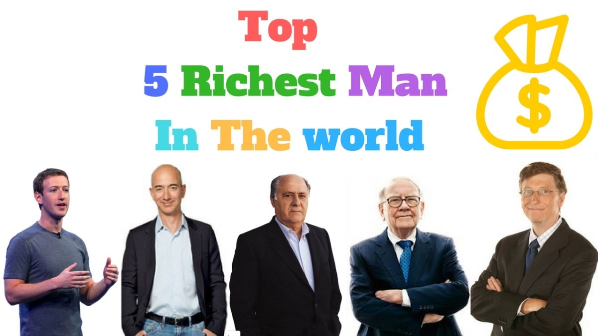 Top Five Richest people in the World 2018