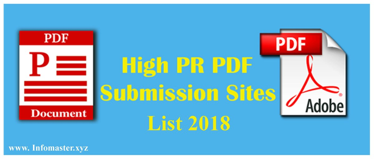 Top 50 High PR Do Follow Free PDF Submission Sites List 2018