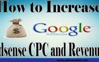 how to increase google adsense cpc