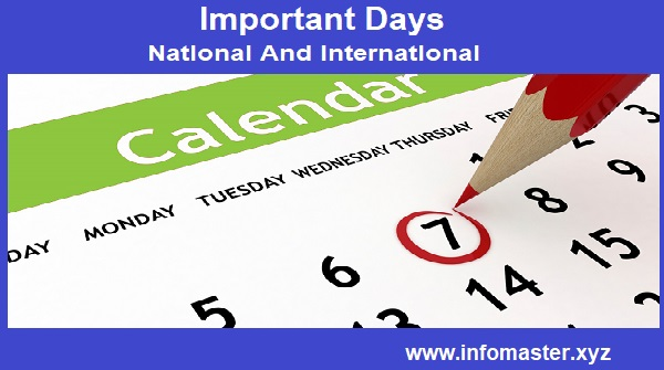 Important List of Days: National and International