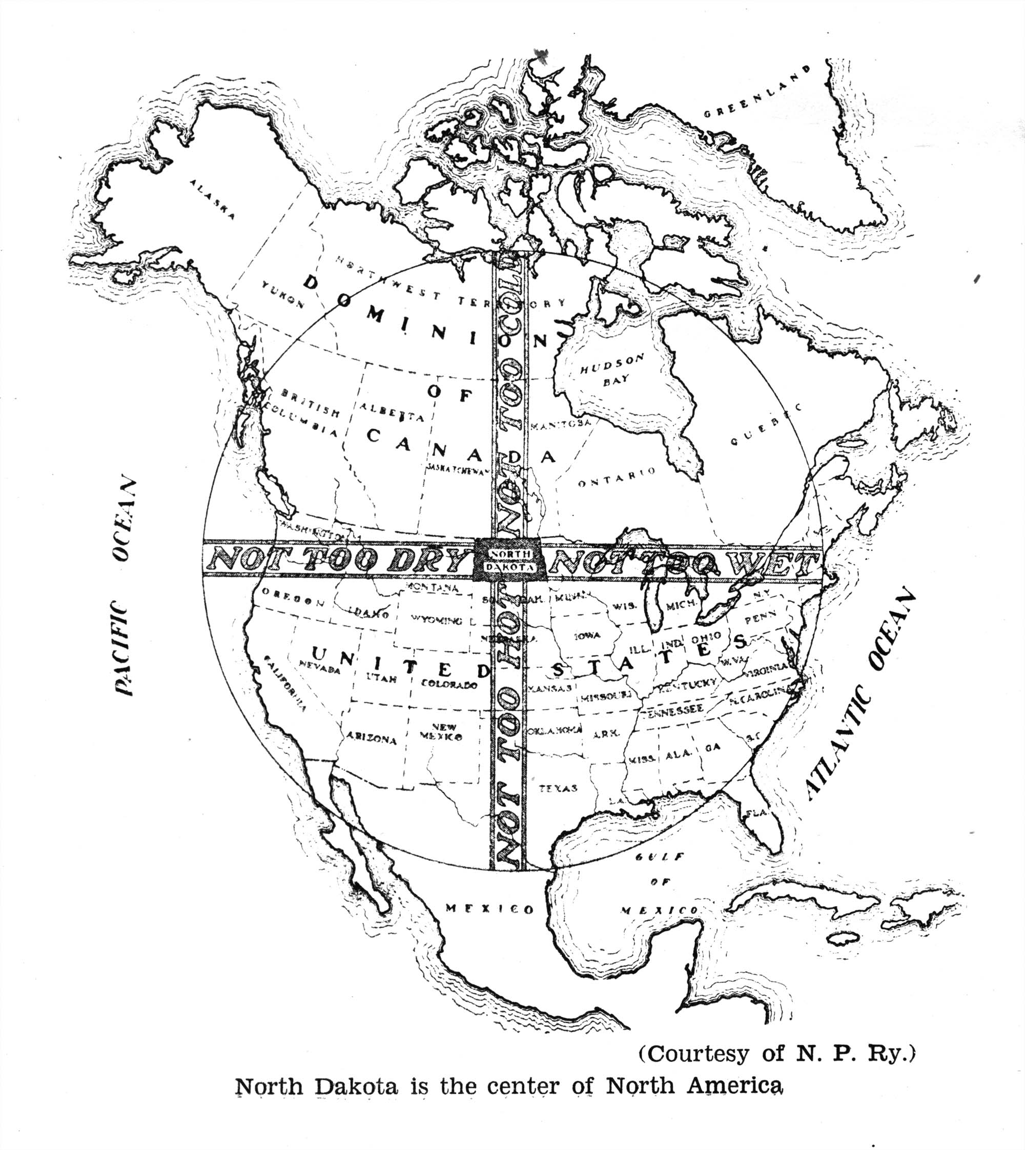 Climate Map of North America, N.D.-Centric, 1929. « The