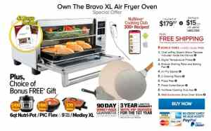 Bravo XL Smart Oven TV Offer