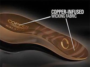 Copper Fit Balance Shoe Insoles