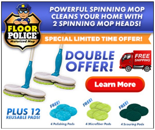 Floor Police Powered Spin Mop