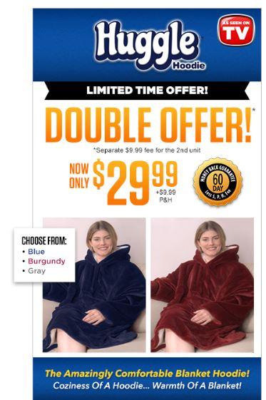 huggle hoodie offer