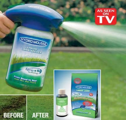 Hydro Mousse Spray on Grass Seed