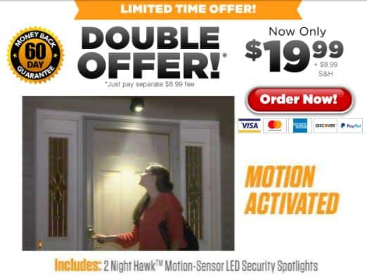 night hawk as seen on tv offer