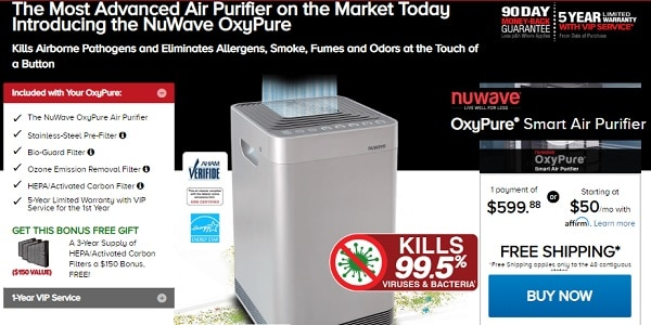 OxyPure Air Purifier Offer