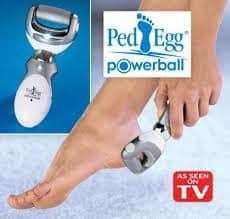 ped egg powerball heels