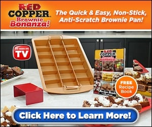 Red Copper Brownie Bonanza Pan