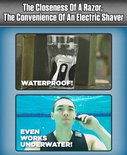 underwater razor