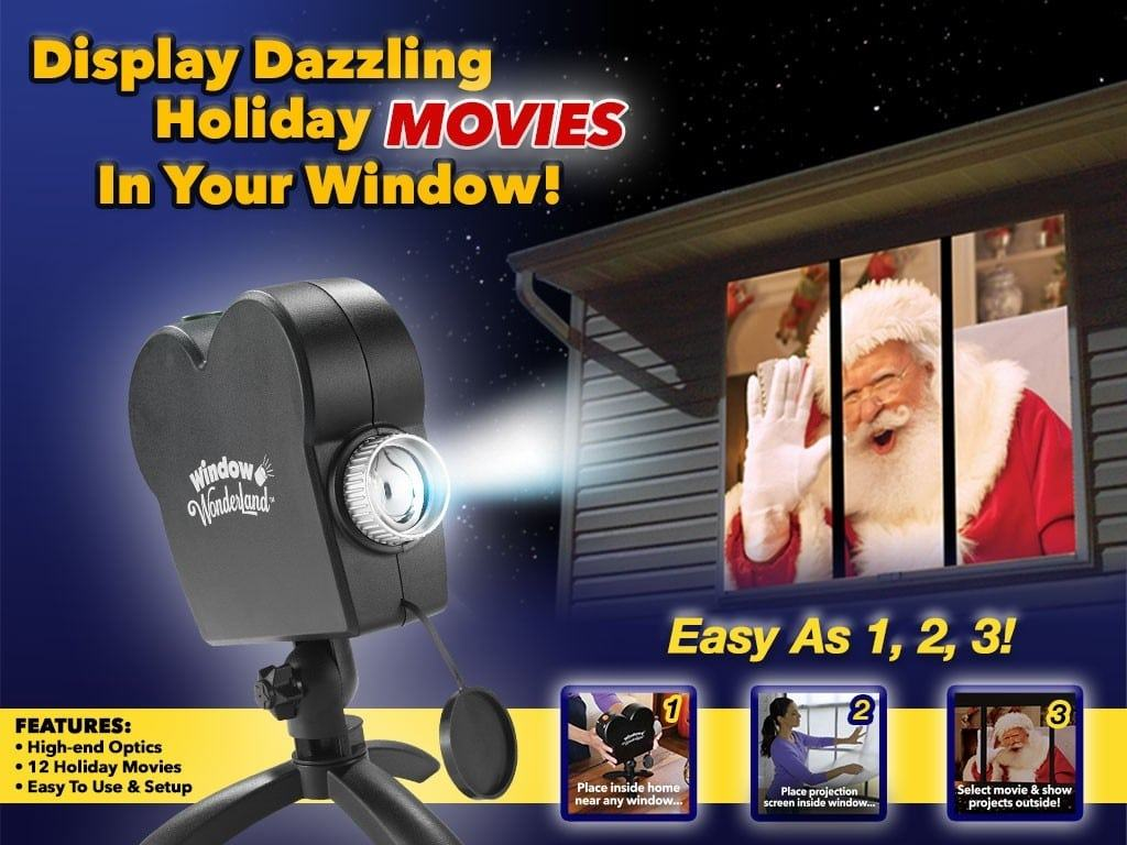 Window Wonderland Project Holiday Movies Outside on Your Windows
