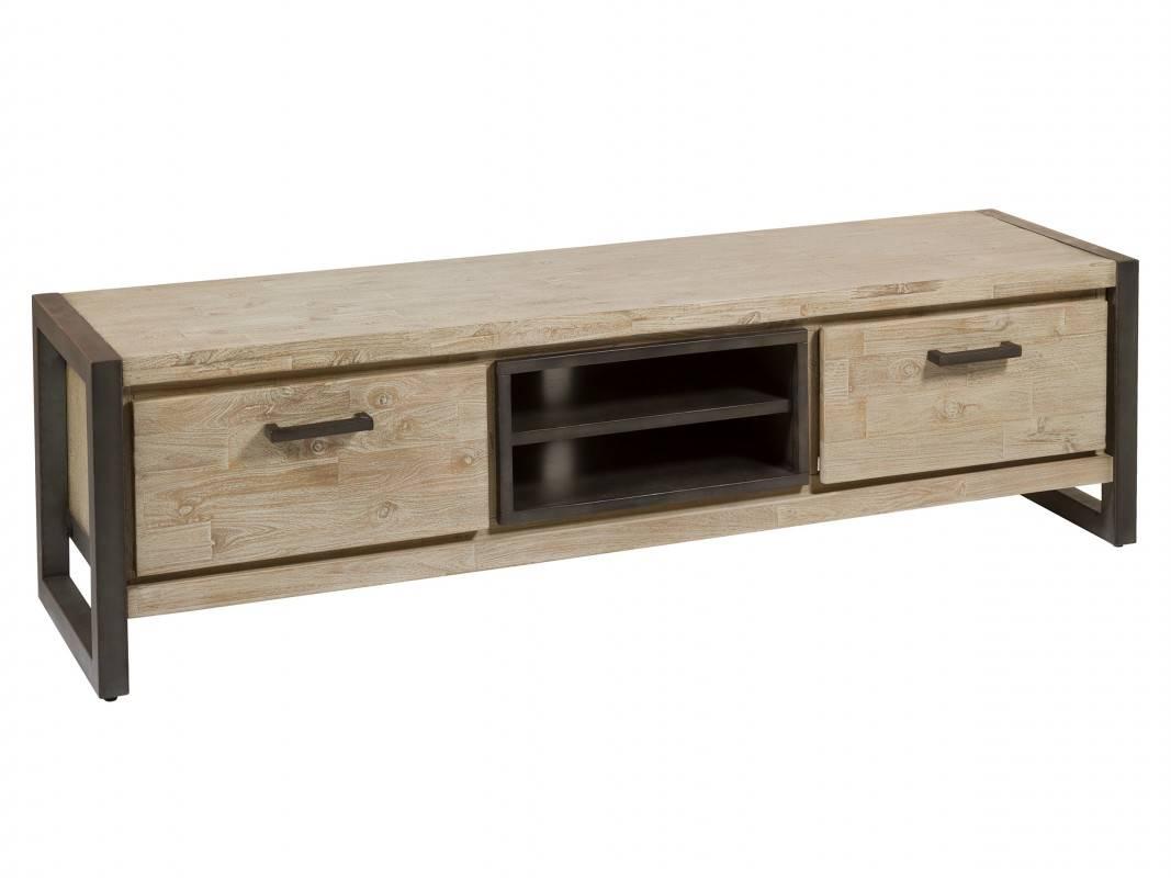 Mueble TV bajo 2 cajones estilo industrial  Blog de