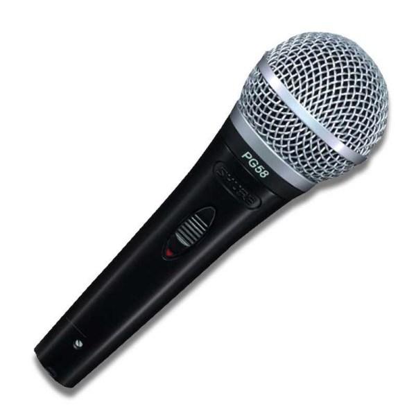 Shure Pg58-xlr- El Tipi Dinamik Vokal Mikrofon En Iyi Fiyatlar Infomusic'de
