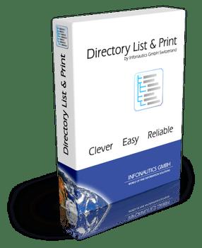 Mit Directory List & Print Datei- und Verzeichnislisten drucken