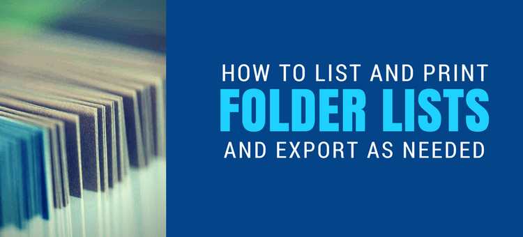 How To List Files And Folders In A Directory