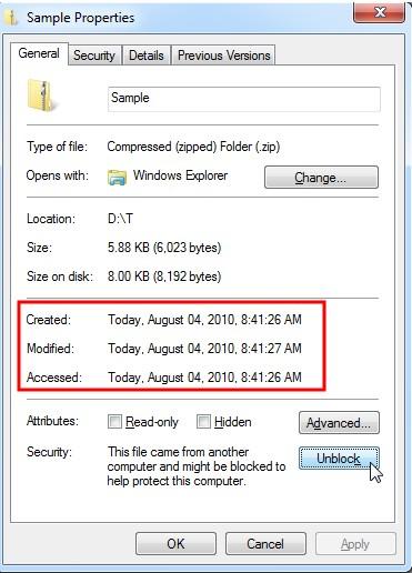 File Properties General View