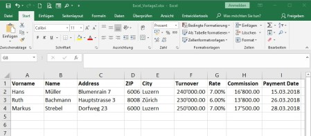 Zahlenformate aus Excel für Serienbrief übernehmen