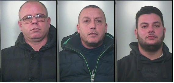 Da sinistra Stefano Celiento, Angelo Pezzullo, Corrado Polizzi