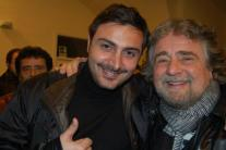 Francesco Di Serio con Beppe Grillo