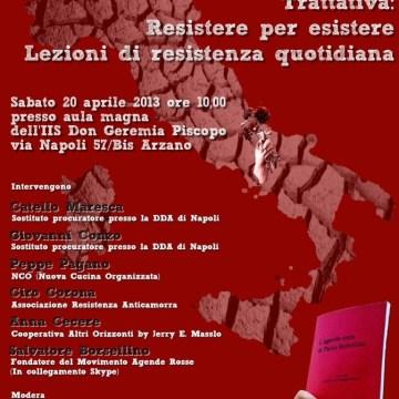 Movimento Agende Rosse Campania, convegno all'istituto Don Geremia Piscopo