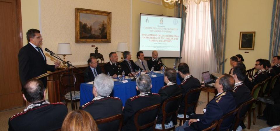 Cultura della salute e sicurezza sui luoghi di lavoro. Covegno dei Carabinieiri a Napoli